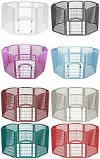 "NEW IRIS 63"" Folding Exercise Kennel Crate Dog Puppy Pet Play Pen Fence Panels"