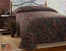 True Timber Mixed Pine Soft Camo Quilted Bedspread~Twin Full Queen King Cal King