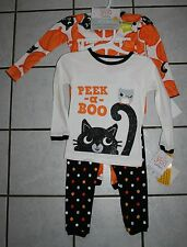 NWT Girls Carters Just One You 2 Pk Halloween Glow in the Dark Pajamas ~Inf/Tod