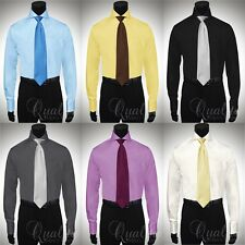 Windsor collar shirt ebay for Mens dress shirts with different colored cuffs and collars