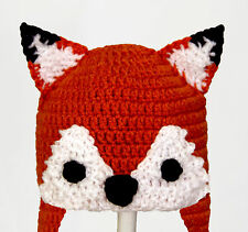 Fox Earflap Hat, What Does the Fox Say? Laplander Beanie baby - adult