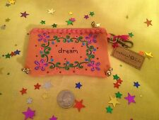 """NEW! Natural Life Purse/ID Wallet/Bells: Green """"Live Simply"""" or Pink """"Dream"""""""