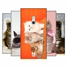 HEAD CASE CATS PROTECTIVE SNAP-ON HARD BACK CASE COVER FOR NOKIA LUMIA 800