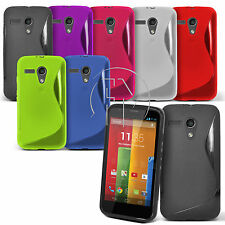 WAVE S LINE GRIP GEL CASE SILICONE CASE COVER  FOR MOTOROLA MOTO G
