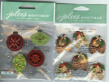 U CHOOSE  Jolee's MINI PINECONE BUNCHES  HOLIDAY ORNAMENTS 3D Stickers Christmas