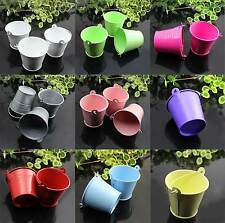 10 Pcs Hot Tinplate Mini Bucket Boxes Wedding Party Candy Box Supply 9 Colors