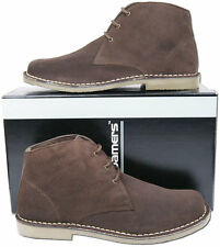 Mens New Brown 3 Eyelet Suede Leather Desert Ankle Fashion Boots Free UK Postage