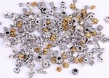 50g(about 90pcs) antique Silver/Golden Flower European Bead/Caps Jewelry Making