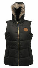 REGATTA EVERYTIME WOMENS BODYWARMER BLACK HOODED WATERPROOF OUTDOOR QUILTED