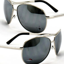 NFL New Sunglasses Women Aviator Metal Mirrored Broncos 49ers Cowboys Logos