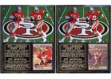 Joe Montana #16 Jerry Rice #80 San Francisco 49ers NFL Photo Card Plaque HOF