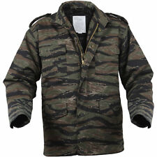 M65 M-65 Army Military Field Jacket w/ Liner - Tiger Stripe Camouflage