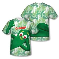 Gumby Gumbyflage All Over Sublimation Poly Adult Shirt S-3XL