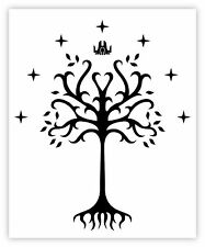 LORD of the RINGS Vinyl Sticker Decal *3 SIZES* King of Gondor Flag Bumper Wall