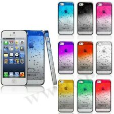Raindrop WaterDrop Clear Crystal Hard Case Cover For Apple iphone 4 4S 5 5S