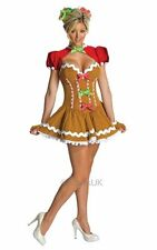 SALE! Sexy Christmas Gingerbread Ladies Fancy Dress Xmas Party Costume Outfit