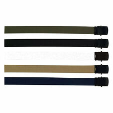 Military Uniform Color Web Belt With Black Buckle 44, 54, 64 Inches