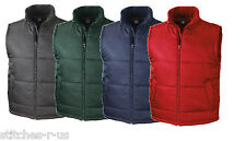 2 Personalised/ Embroidered Result Men's Core Bodywarmer/ Gilets (VAT inc.)