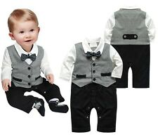 Boy Baby Kids Toddler Bowknot Gentleman Romper Jumpsuit Clothes Outfit Clothing