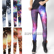 Lady Sexy Shining Galaxy Star Space Graphic Leggings Stretchy Tights Pants HD23L
