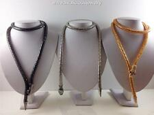 Ultra Sleek Snake Wrap Diva Bling Necklace -3 Colors Real Snake Feel and Texture