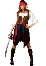 PIRATE caribbean wench womans fancy dress costume outfit lady buccaneer