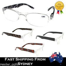 Mens Ladies Magnifying Reading Glasses Clear Half Frame 1.0 1.5 2.0 2.5 3.0 3.5