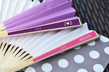 36 Personalized Monogram Paper Wedding Fans Party Favors