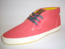 Base London Fish 'n' Chips mens hi-ankle casual shoe / boot Coral Canvas ROD
