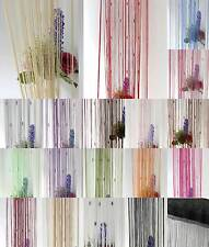 Decorative String Curtain Tassel With 3 Beads Door Window Panel Room Divider