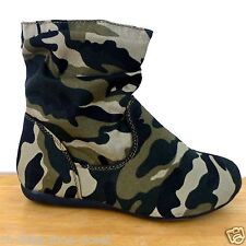 Camouflage Dress Slouchy Flat Walking Booty Baby & Toddler Size 9, 10, 11