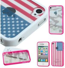 iPhone 4 4G 4S - Hard Gummy Rubber Silicone Jelly Case Cover TRANSPARENT BACK