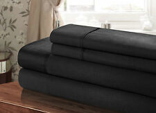 Chic Home 100% Cotton 300T sheet Set Black Twin, Full, Queen, King