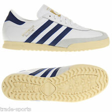 adidas MENS BECKENBAUER FOOTBALL STYLE TRAINERS SHOES SIZE 7.5 - 12 WHITE RETRO