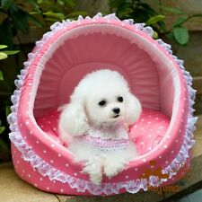 KOJIMA New Cute Soft Cozy Prince Princess Lace Shell Pet Bed Kennel for Dog Cat