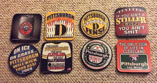 Pittsburgh Drink Coasters- Steelers Penguins - 8 Styles - Build Your Own Pack