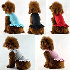 Dog Dress for small dogs summer clothes XS-XXL Red Blue Pink White Black Sale