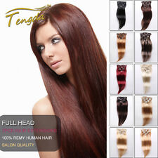 """14""""-30"""" Full Head 7Pcs/Set Clips In on remy  Real 100% Human Hair Extension"""