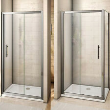 Sliding Shower Enclosure 6mm Glass Door Cubicle Screen Side Panel Stone Tray V2
