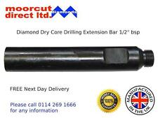 """Dry & Wet Diamond Core Drilling Extension Bar 1/2"""" bsp fitting"""