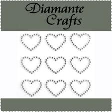 9 Clear Hot Pink Red Mixed Colour Diamante Hearts Rhinestone Vajazzle Body Art