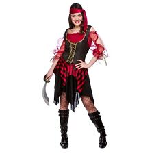 PIRATE caribbean wench swashbuckler fancy dress costume outfit lady buccaneer