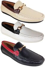 Men Brixton New Leather Driving Casual Shoes Moccasins Slip On Loafers 25994