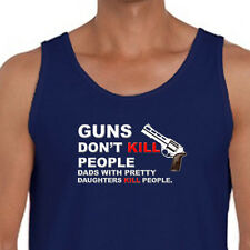 Guns Dont Kill People Dads With Pretty Daughters Do Funny T-shirt Men's Tank Top