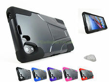 for Sony Xperia Z1 Only Hybrid Rugged Hard/Soft Kickstand Case Cover+PryTool