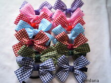 Jemlana's handmade school hair clips& ties( Check ribbons) ..choose one