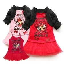 Cute Baby Girl Minnik Mouse Two-piece-like Dress Costume Outfit Clothes