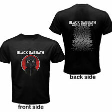 Black Sabbath Ozzy World Tour Dates 2014 Concert Rock Band T Shirt Size S-3XL Av