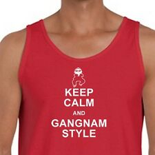 Keep Calm and Gangnam Style Funny dance T-shirt PSY parody Men's Tank Top