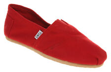 Womens Toms Classic Slip Ons RED Flats